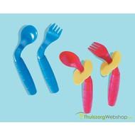 Couverts courbés pour enfants Easi Eaters (cuillère+fourchette)