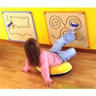 Elément mural pour coordination des pieds