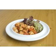 Assiette en céramique, bord rehaussé Steelite