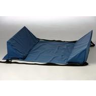 Coussins triangulaires pour un soutien latéral au lit, avec du Velcro