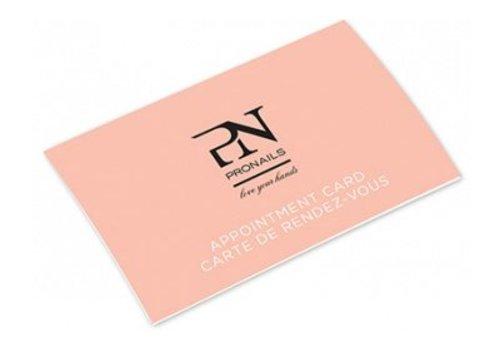 Pronails PRONAILS APPOINTMENT CARDS EN/FR 50 PCS