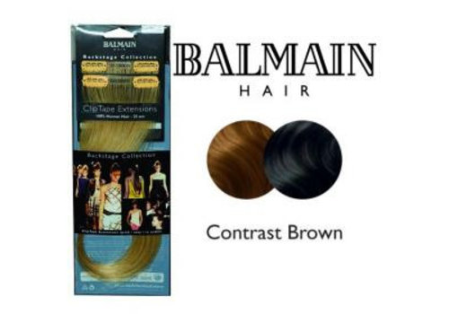 Balmain BALMAIN CLIP TAPE EXTENSION 25CM CONTRAST BROWN