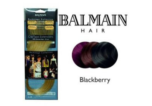 Balmain BALMAIN CLIP TAPE EXTENSION 25CM BLACKBERRY