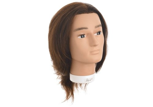 Sinelco OEFENHOOFD BOBBY INDIAN HAIR 30-35 CM