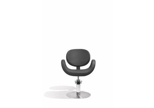 Sibel Furniture CONSCIENTIA KAPPERSSTOEL ZWART MET RONDE VOET