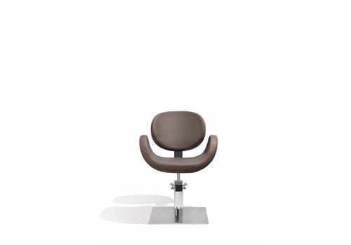 Sibel Furniture CONSCIENTIA KAPPERSSTOEL BRUIN MET VIERKANTE VOET