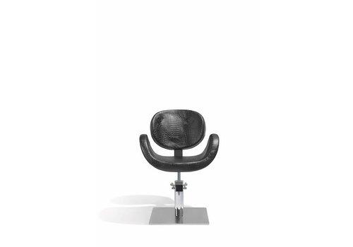 Sibel Furniture CONSCIENTIA KAPPERSSTOEL CROCO ZWART MET VIERKANTE VOET