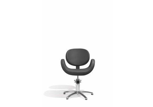 Sibel Furniture CONSCIENTIA KAPPERSSTOEL ZWART MET 5 STERREN VOET