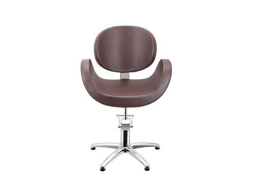 Sibel Furniture CONSCIENTIA KAPPERSSTOEL BRUIN MET 5 STERREN VOET