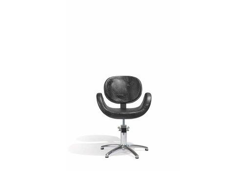 Sibel Furniture CONSCIENTIA KAPPERSSTOEL CROCO ZWART MET 5 STERREN VOET
