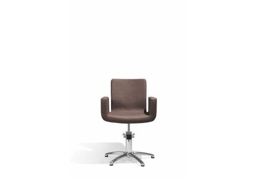 Sibel Furniture ATTRACTIO KAPPERSSTOEL BRUIN MET 5 STERREN VOET