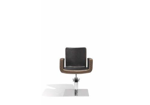 Sibel Furniture ATTRACTIO KAPPERSSTOEL DONKER GOUD MET VIERKANTE VOET