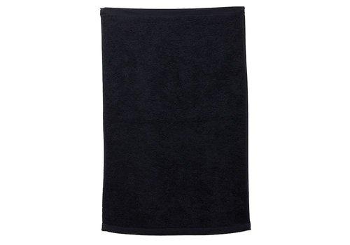 Sinelco Mini Max Badstof Handdoek 45X28Cm Zwart Bob Tuo