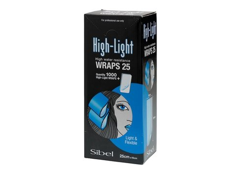 Sibel HIGH-LIGHT WRAPS 10X25CM 1000ST