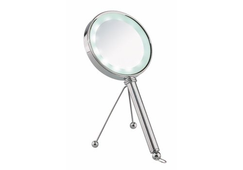 Sinelco VADUZ 13CM LED DOUBLE SIDED HANDHELD MIRROR REGULAR X3