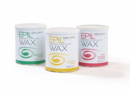 Sibel DEPILATORY LIPOSOLUBLE WAX 800ML PINK WITH TITATIUM DIOXIDE