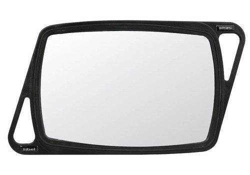 Sinelco KAPPERSSPIEGEL VISION ZWART 38X25CM