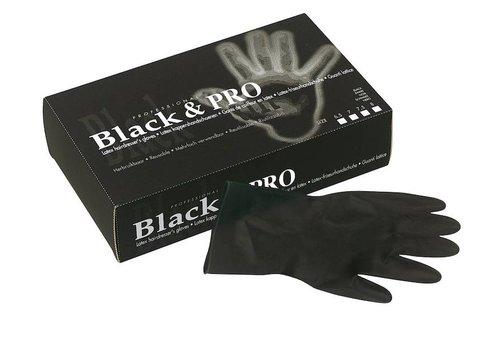 Sinelco Handschoen Latex M Zwart Satin 20St