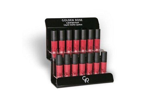 Golden Rose Longstay Liquid Matte Lipstick Display