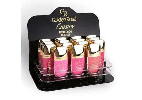 Golden Rose LUXURY RICH COLOR LIPGLOSS PLEXI DISPLAY