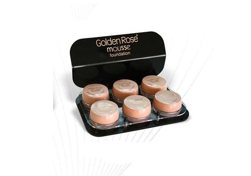 Golden Rose GOLDEN ROSE MOUSSE FOUNDATION DISPLAY