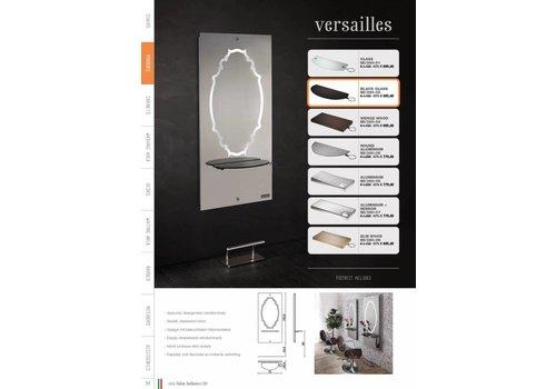Salon Ambience VERSAILLES STYLING UNIT, ALUM.SHELF+SPIEGEL, FOOTREST FR/030