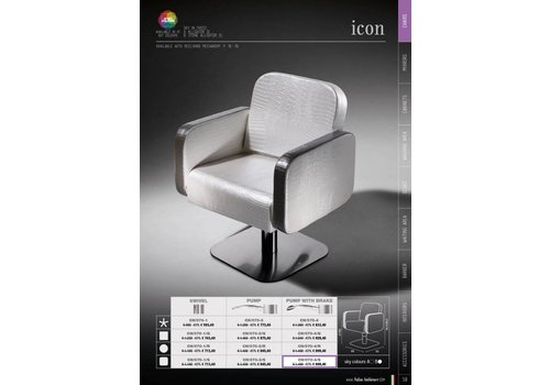 Salon Ambience ICON CHAIR TOP METOUT SEAT BRACKET