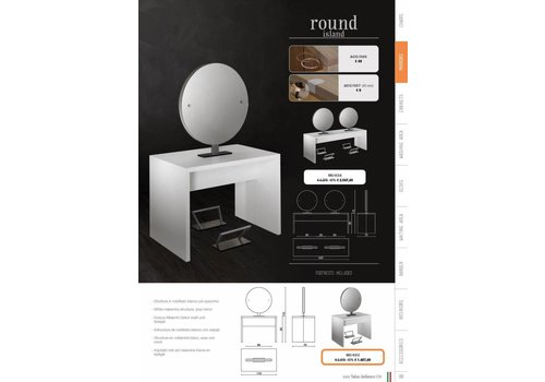 Salon Ambience ROUND ISLAND STYLING UNIT-TWO POSITIONS,WIT