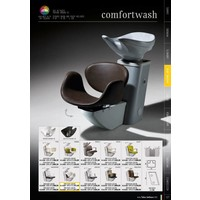 Amber Comfortwash Grey Frame Witte Wasbak