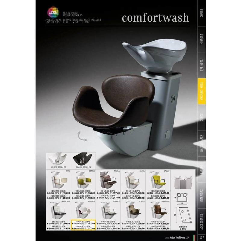 Alexa Comfortwash Grey Frame Zwarte Wasbak
