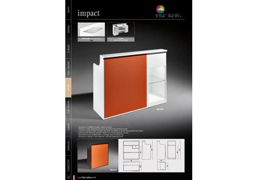 Salon Ambience IMPACT WIT RECEPTION DESK SKY PANEL+DISPLAY CABINET