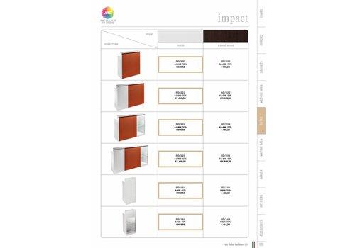 Salon Ambience IMPACT WIT RECEPTION DESK SKY PANEL+SIDE CABINET