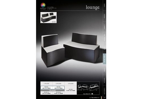 Salon Ambience LOUNGE TWO SEATER SOFA MET DRYER BRACKETS