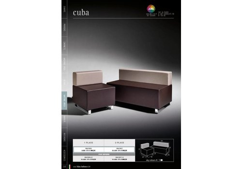Salon Ambience CUBA TWO SEATER FOR DRYERS