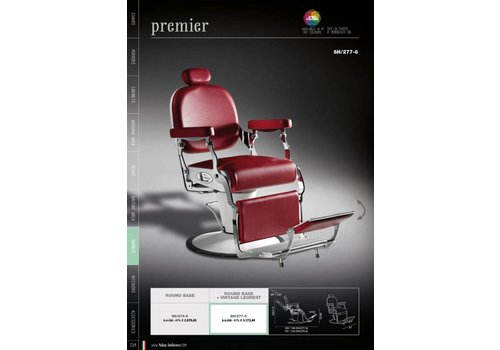 Salon Ambience Premier Barber Chair Ronde Plaat
