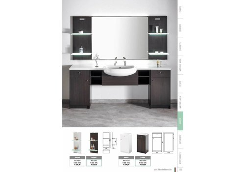 Salon Ambience Shine Wenge Display Panel Glass Shelves