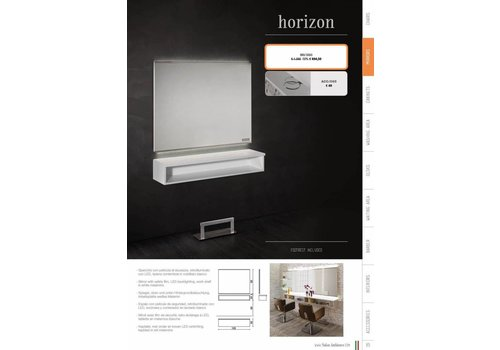Salon Ambience HORIZON WIT PANEL + SPIEGEL MET LED LIGHTING