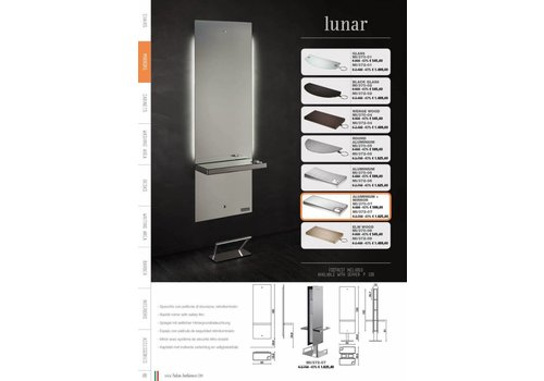 Salon Ambience LUNAR STYLING UNIT, ALUM.SHELF+SPIEGEL, FOOTREST FR/020