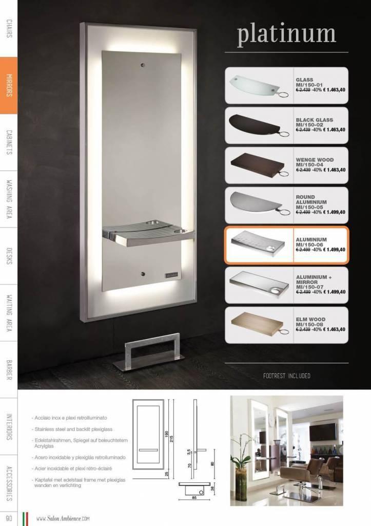 Platinum styling unit elmwood rect shelf footrest fr 040 for Der spiegel mobil
