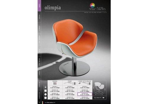 Salon Ambience OLIMPIA VERSTELBAAR+HOOFDSTEUN MET BLOK. POMP RONDE PLAAT