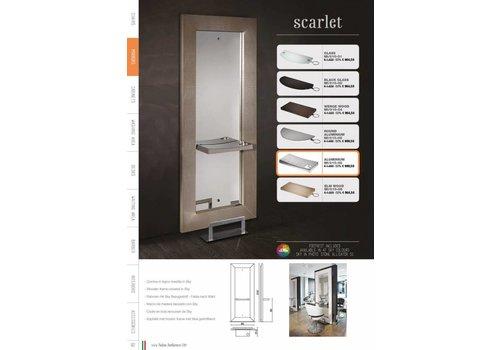 Salon Ambience Scarlet Styling Unit,Wenge Rect.Shelf, Footrest Fr/040