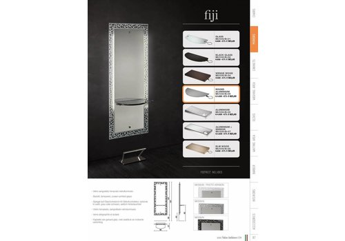 Salon Ambience Fiji Zwart Styling Unit,Elmwoodrect.Shelf, Footrest Fr/020