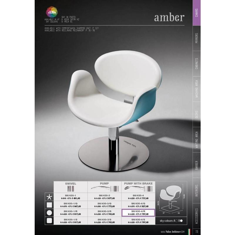 Amber Met Blokkeerbare Pomp, Vierkante Plaat