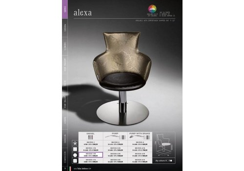 Salon Ambience ALEXA PLASTIC BACKREST COVER, ZWART STRIP
