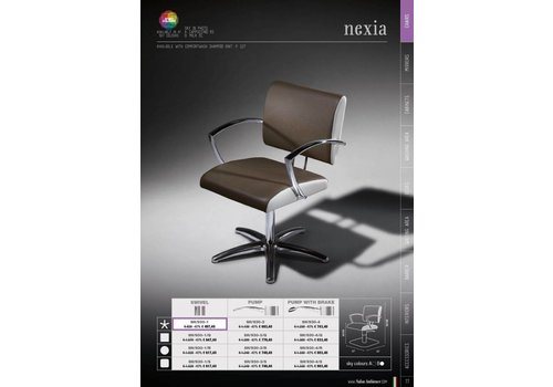 Salon Ambience Nexia Plastic Backrest Cover Zwart Strip