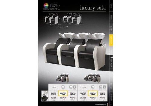 Salon Ambience Luxury Triple Wash Unit Lh+Centre Massage Witte Wasbak