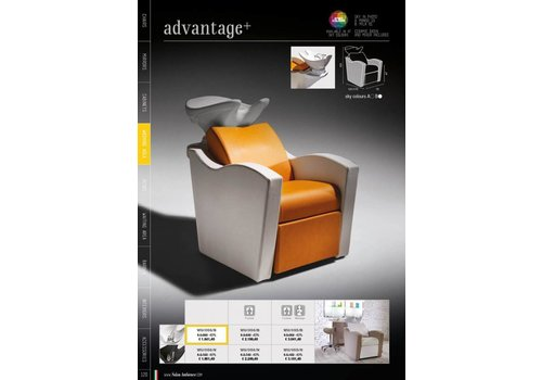 Salon Ambience ADVANTAGE+ WASH UNIT WITTE WASBAK