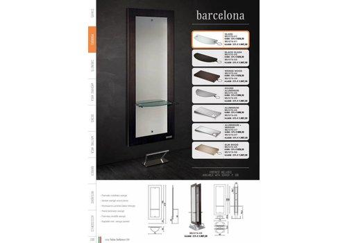 Salon Ambience Barcelona Island,Rectangular Aluminium Shelves+Spiegel