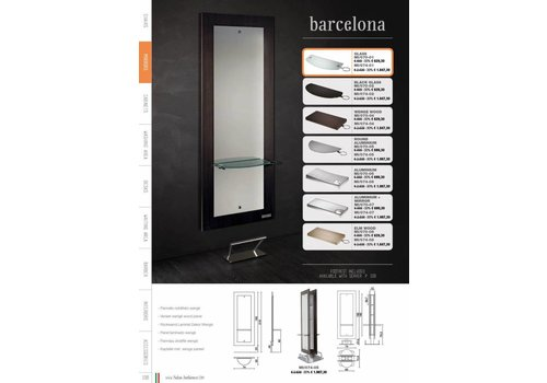 Salon Ambience BARCELONA STYLING UNIT,GLASS SHELF, FOOTREST FR/020