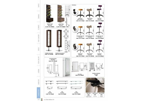 Salon Ambience WALL SYSTEM WIT 120 BASE LH DRAWERS,ELMWOOD FRONT